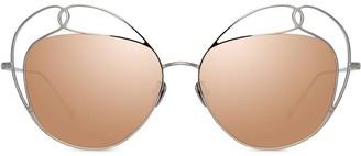 Linda Farrow Harlequin C2 cat-eye sunglasses