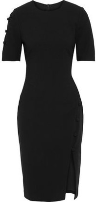 Black Halo Joanna Button-detailed Cady Dress
