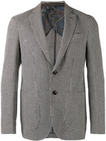 Etro patterned long sleeve blazer - men - Silk/Cotton/Linen/Flax/Cupro - 46