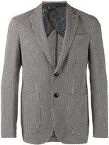 Etro patterned long sleeve blazer - men - Silk/Cotton/Linen/Flax/Cupro - 50
