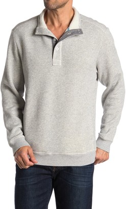 Tommy Bahama Via Norte Button Mock Neck Fleece Pullover