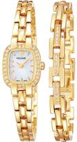 Pulsar Women's Ladies Watch and Bracelet Gift Set with Dial, Swarovski Elements - PEGG42X2