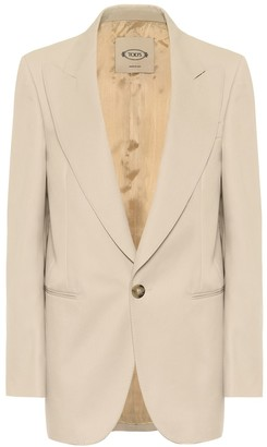 Tod's Gabardine and cotton blazer