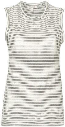 Nili Lotan Sleeveless Stripe-Print T-Shirt