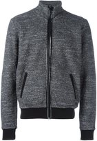 Maison Margiela textured zip-up sweatshirt