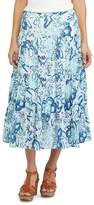 Chaps Women's Floral Crinkle Maxi Skirt
