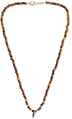 Isabel Marant Collier Silver-Tone Beaded Necklace - Men - Brown