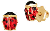 Lord & Taylor 14K Yellow Gold Ladybug Stud Earrings