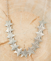 Nautilus Silvertone Star Necklace