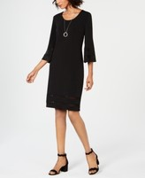 JM Collection Mesh-Inset Necklace Dress, Created for Macy's