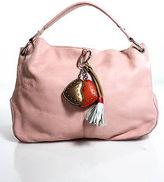 Escada Sport Pink Leather Charm Detail Shoulder Handbag
