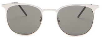 Saint Laurent Round Metal Sunglasses - Grey