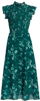 Sea Monet Smocked Floral Maxi Dress