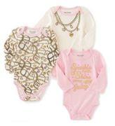 Juicy Couture Baby's Cotton-Blend Bodysuit- Set of 3