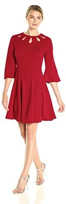 Julian Taylor Women's Fit and Flare Dress with Cut Outs