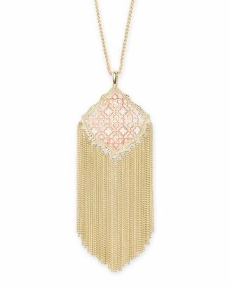 Kendra Scott Kingston Long Pendant Necklace in Filigree