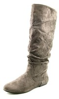 Wanted Toucan Round Toe Canvas Knee High Boot.