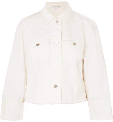 Elizabeth and James Branson Cropped Denim Jacket - White