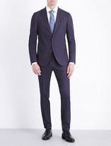 HUGO BOSS Slim-fit patterned wool suit