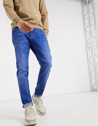 Celio jeans in skinny fit in bright blue wash