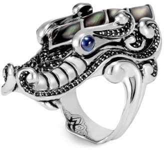John Hardy Legends Mother Of Pearl & Sapphire Naga Ring