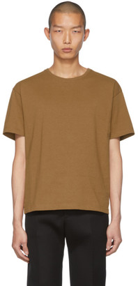 Bottega Veneta Tan Embroidered Logo T-Shirt