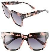 Sonix Women's Avalon 57Mm Retro Sunglasses - Rose Marble/ Black Fade