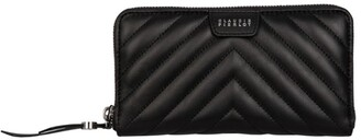 Claudie Pierlot Leather Quilted Wallet