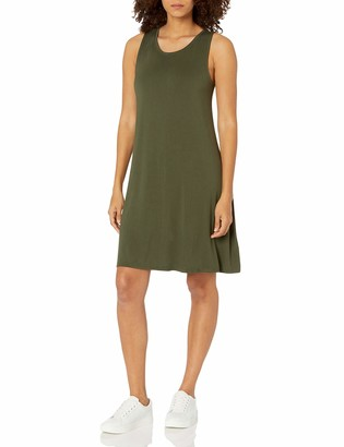 Amazon Essentials Women's Solid Tank Swing Dress