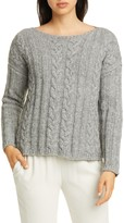 Eileen Fisher Organic Cotton & Alpaca Crewneck Sweater