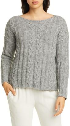 Eileen Fisher Organic Cotton & Alpaca Crewneck Sweater