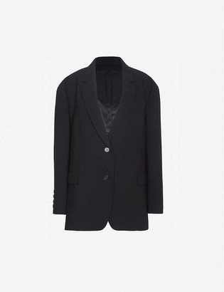 Frankie Shop Boyfriend oversized woven blazer