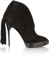 Burberry Fringed suede ankle boots