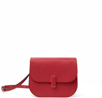 Valextra Iside Cross Body Bag in Red