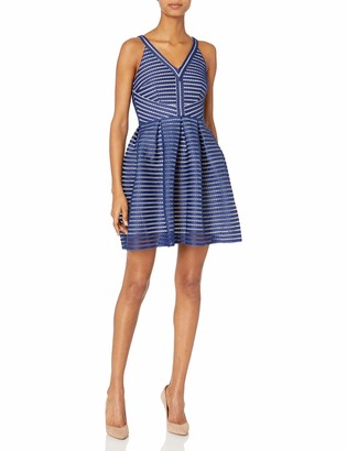 Minuet Women's Stripe Fit and Flare