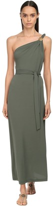 Max Mara Crepe Jersey One Shoulder Dress