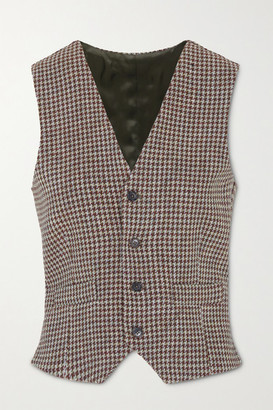 Giuliva Heritage Collection The Andrea Houndstooth Wool Vest - Brown