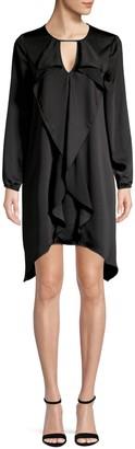 BCBGMAXAZRIA Ruffle Front Dress