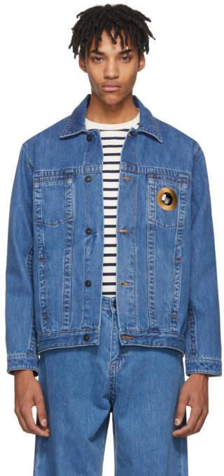 Craig Green Blue Bleached Denim Jacket