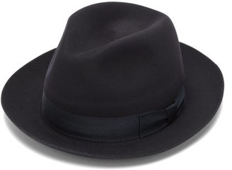 Lock & Co Hatters Fairbanks Felt Trilby Hat - Mens - Navy