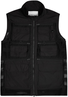 White Mountaineering Black shell and mesh gilet