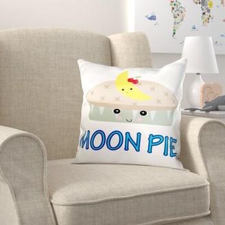 Zoomie Kids Brookins Cute Kawaii Cute Moon Pie Pillow Cover