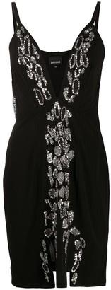 Just Cavalli Asymmetric Mini Dress