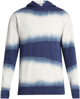 ÉTUDES Factor Hood Tie Dye hooded cotton sweatshirt