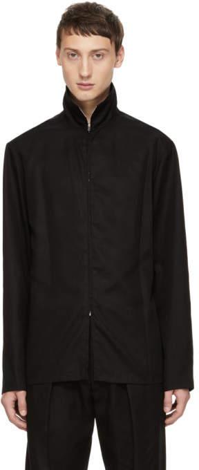 Lemaire Black Zippered Shirt