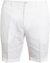 120 LINO Slim-fit linen shorts