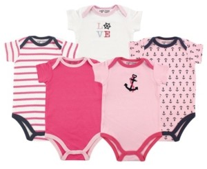 Luvable Friends Baby Vision 12-24 Months Unisex Baby Bodysuits, 5-Pack