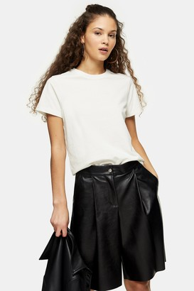 Topshop Womens Considered Ecru Recycled T-Shirt - Ecru