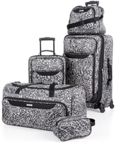Tag Jeans Tag Springfield III Print 5 Piece Luggage Set, Created for Macy's