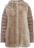 Marella Illy faux fur padded coat